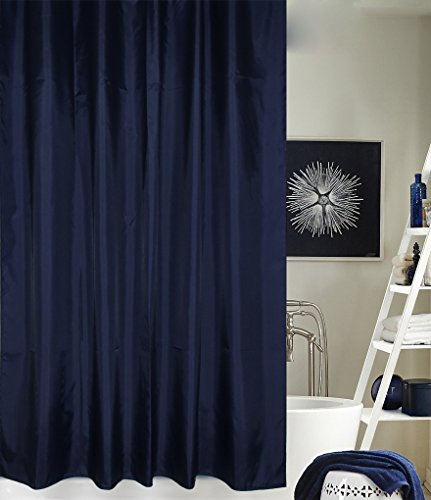 Solid Navy Blue Shower Curtain Shop InterDesign York Polyester - Navy blue shower curtain set